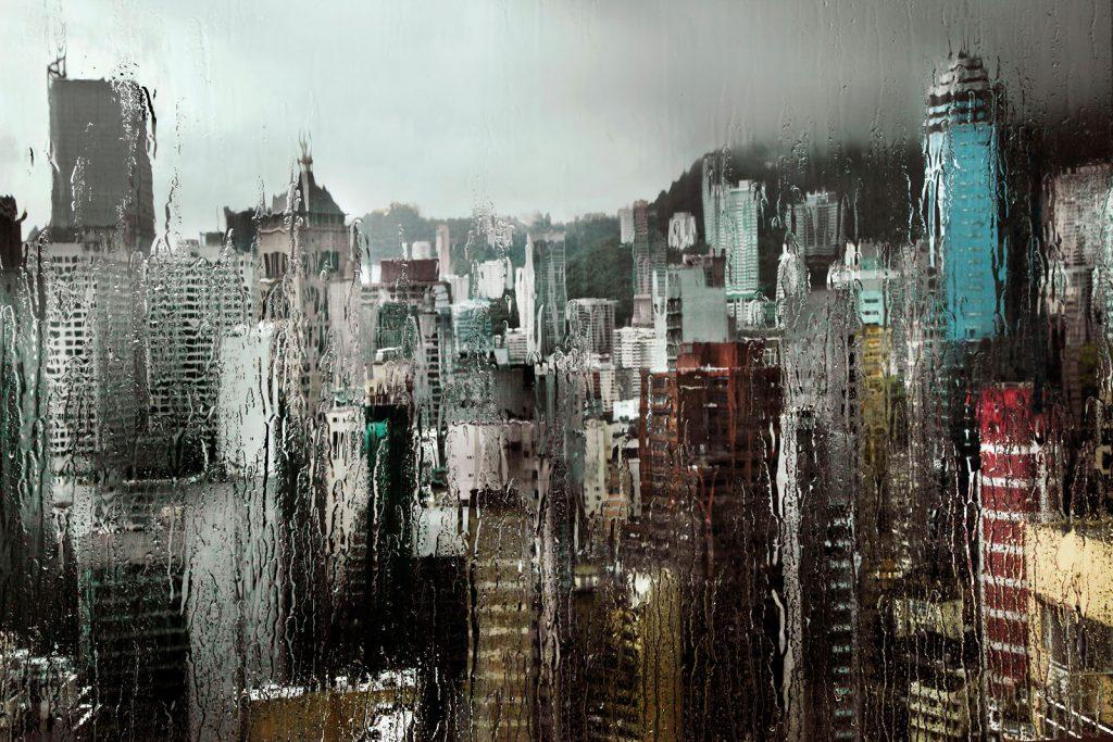 Гонконг под дождем